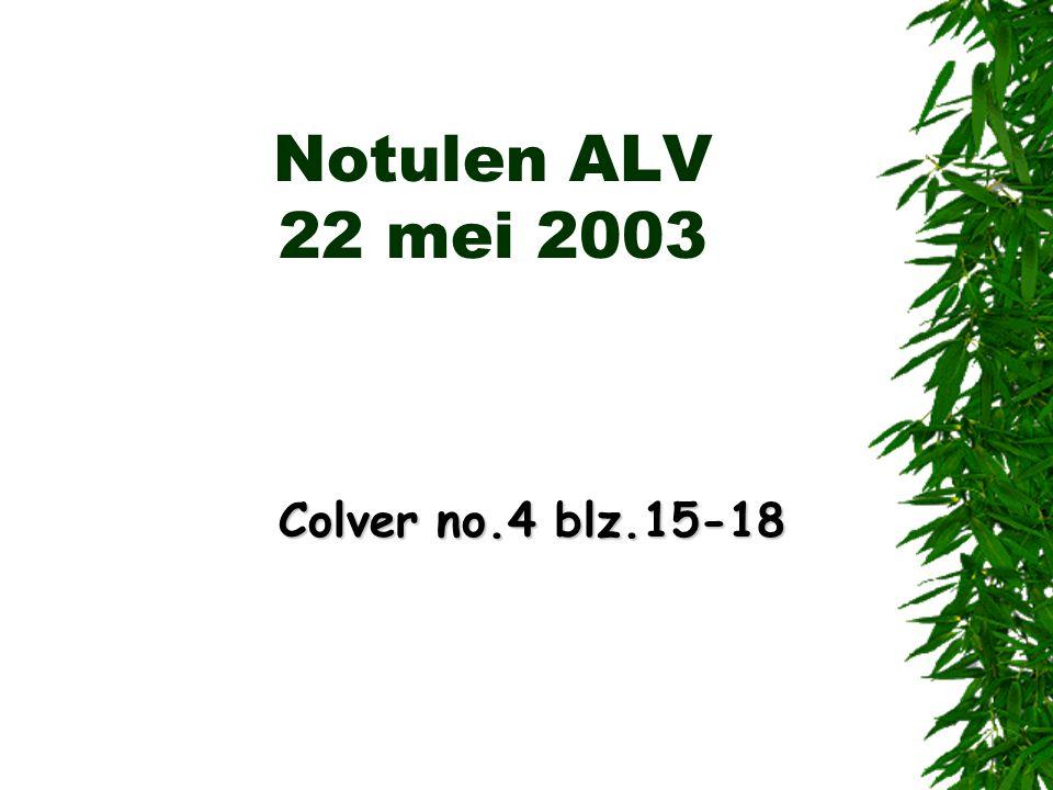 Notulen ALV 22 mei 2003 Colver no.4 blz.15-18