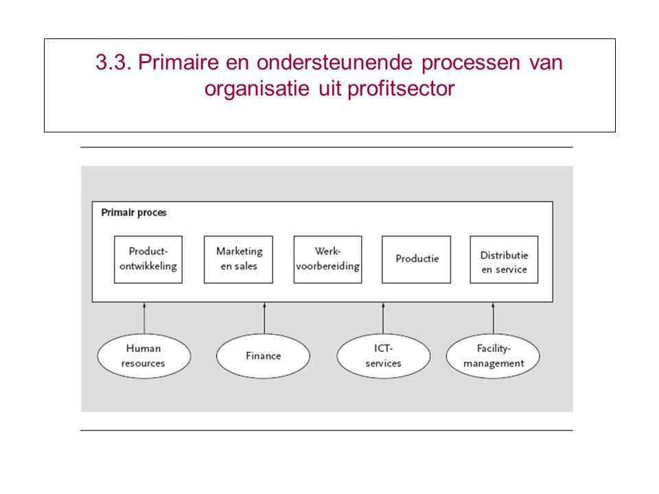 3.3. Primaire en ondersteunende processen van organisatie uit profitsector