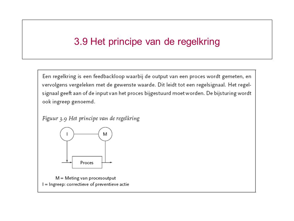 3.9 Het principe van de regelkring