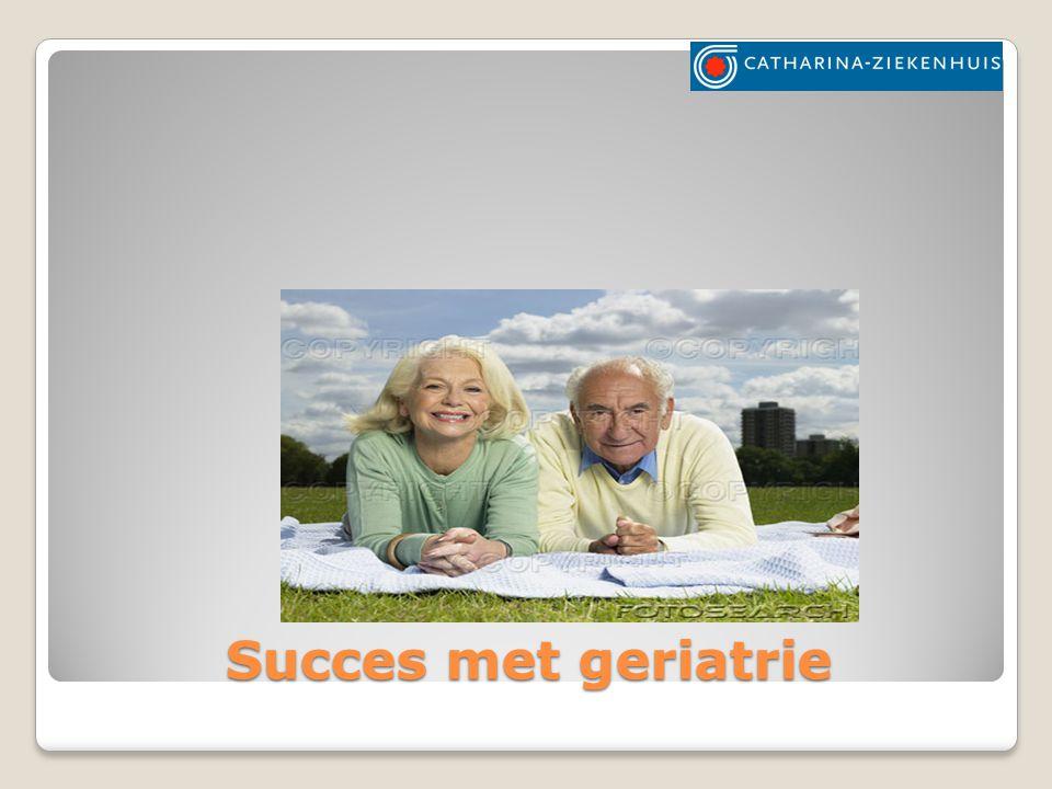 Succes met geriatrie