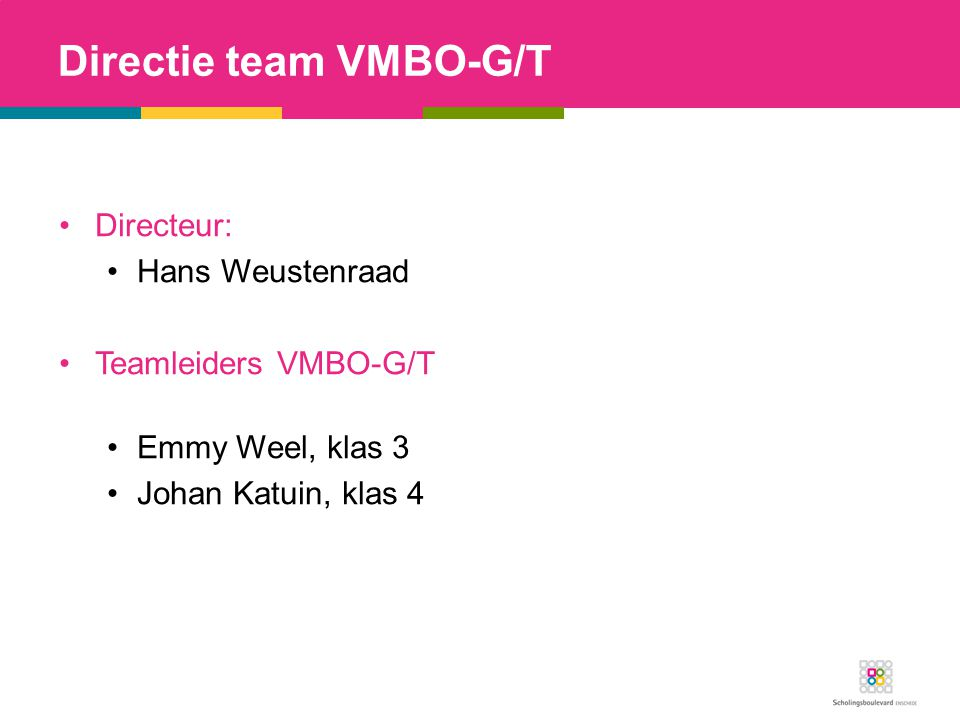 Directie team VMBO-G/T