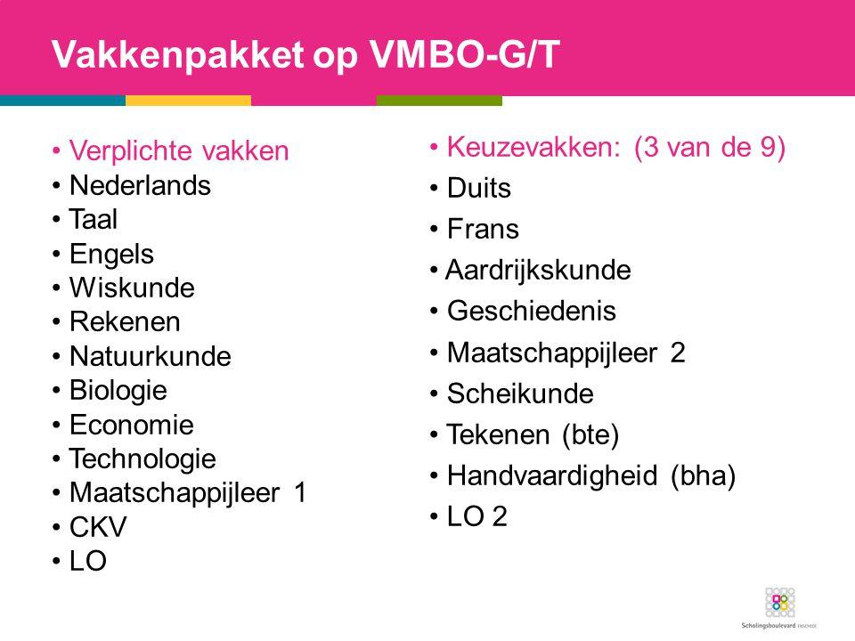 Vakkenpakket op VMBO-G/T