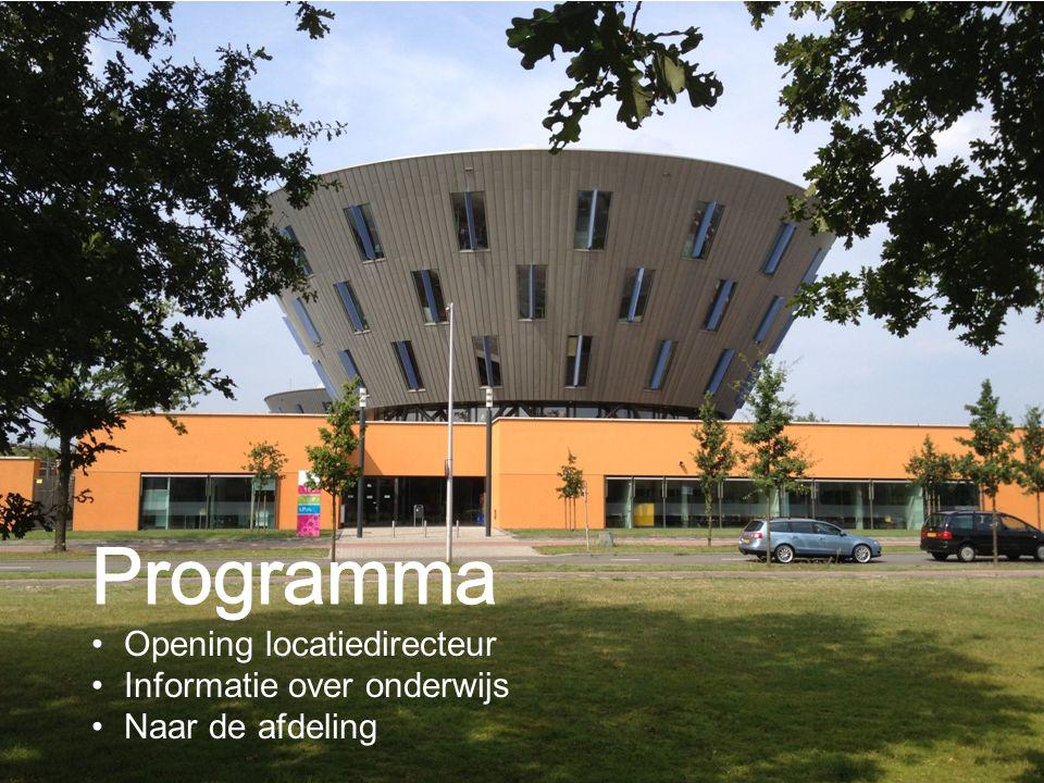 Programma Opening locatiedirecteur Informatie over onderwijs