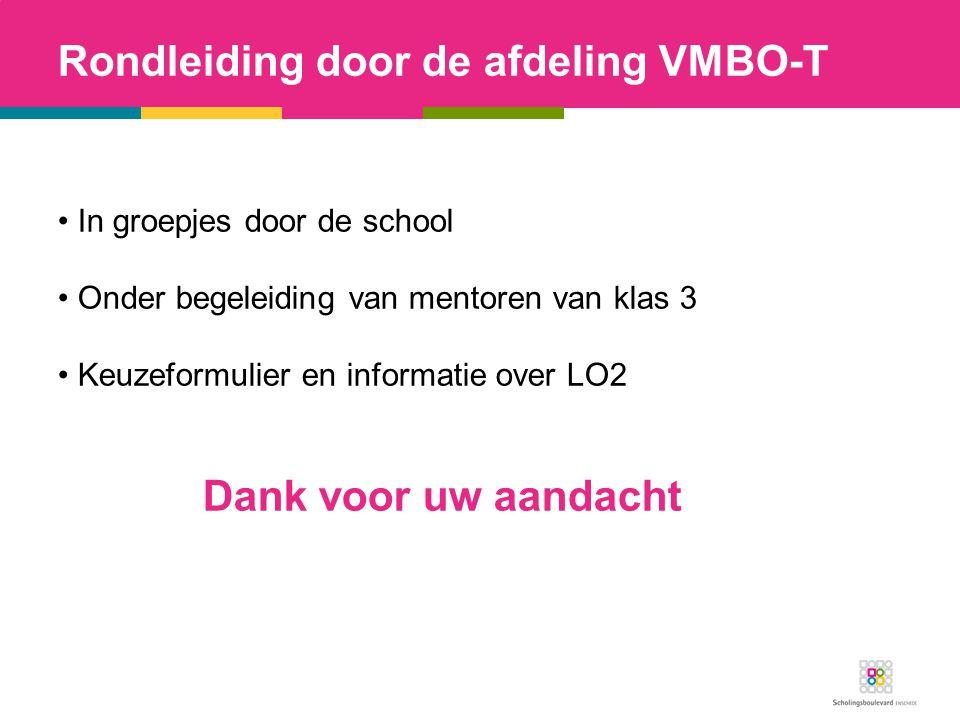 Rondleiding door de afdeling VMBO-T