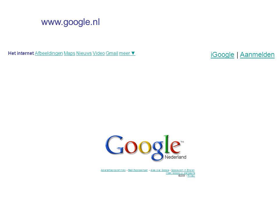 www.google.nl iGoogle | Aanmelden