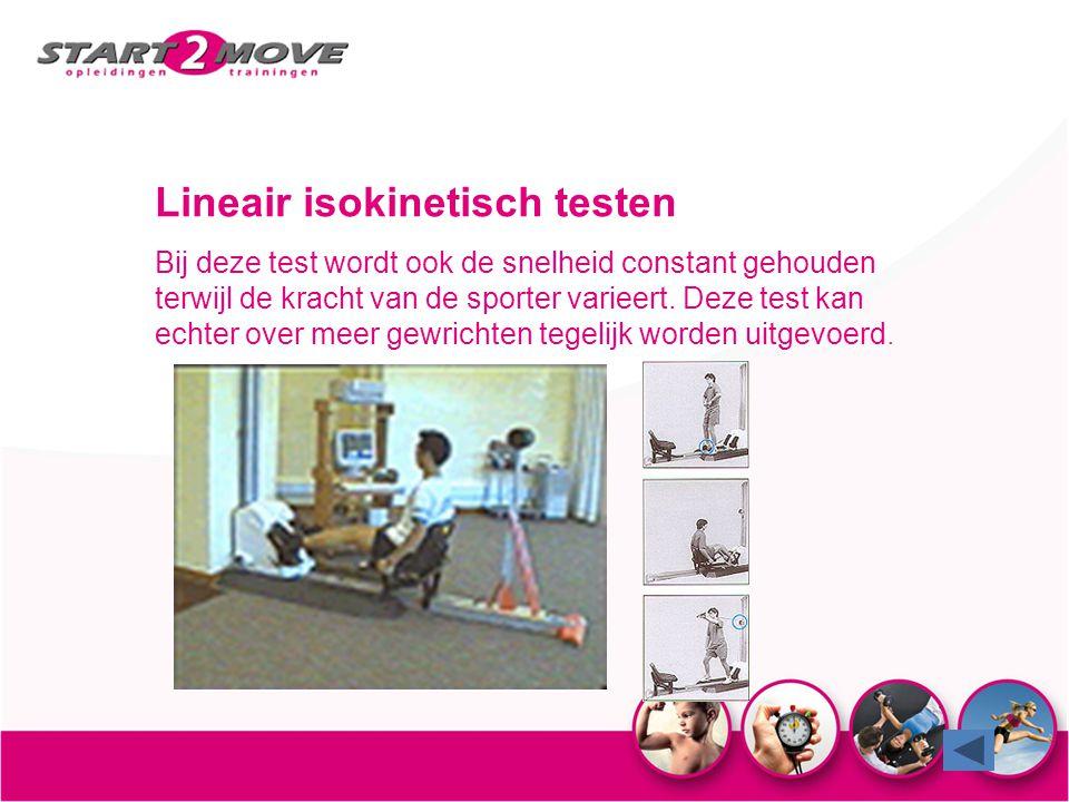 Lineair isokinetisch testen