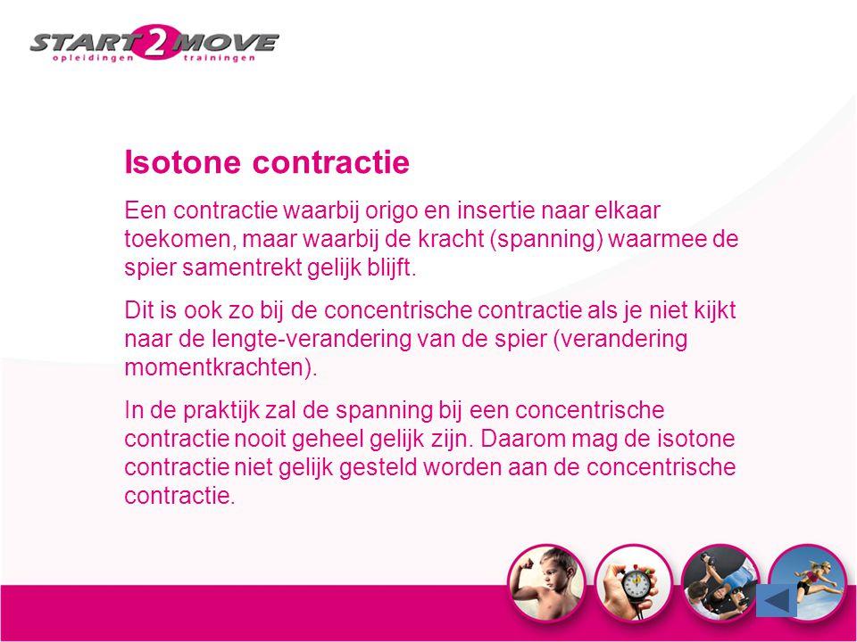 Isotone contractie