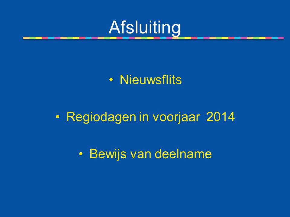 Regiodagen in voorjaar 2014