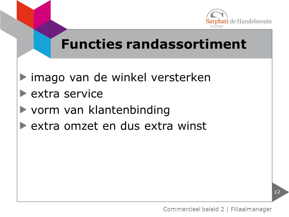 Functies randassortiment