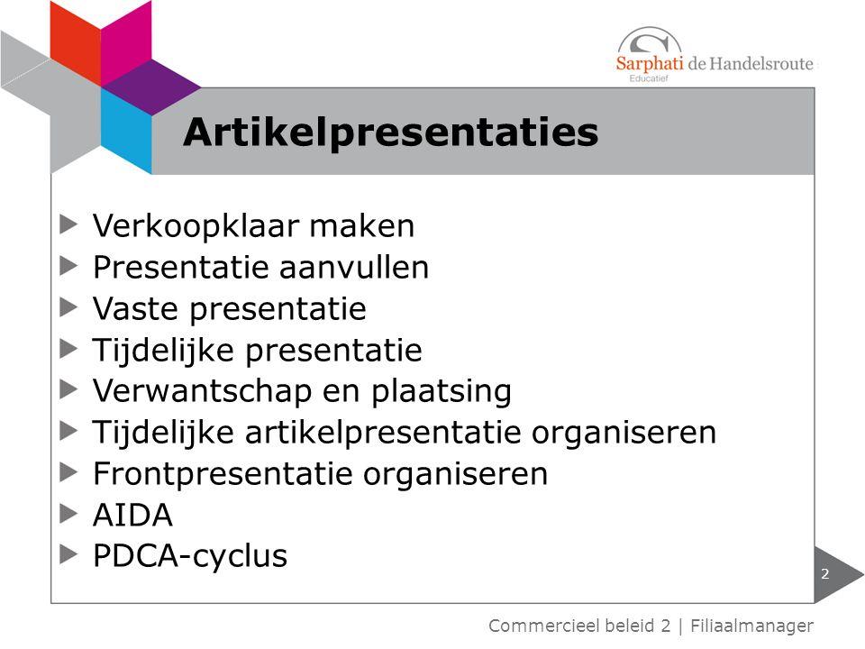 Artikelpresentaties Verkoopklaar maken Presentatie aanvullen