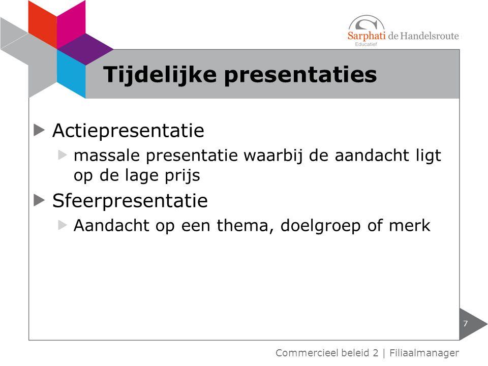 Tijdelijke presentaties
