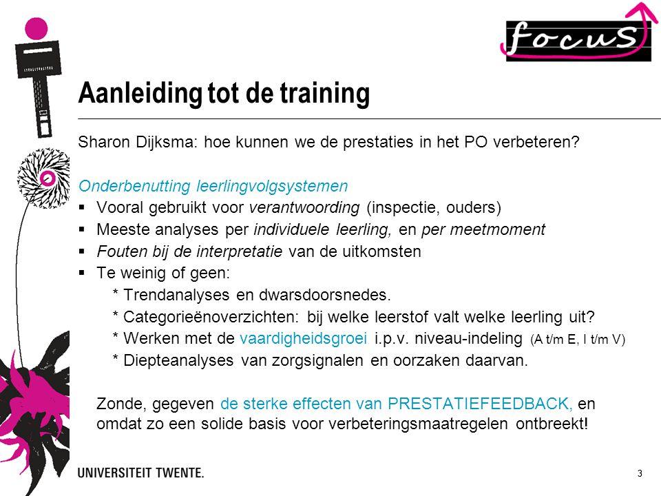 Aanleiding tot de training