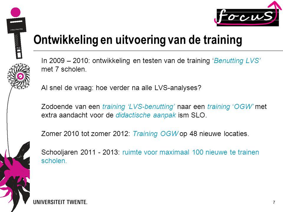 Ontwikkeling en uitvoering van de training