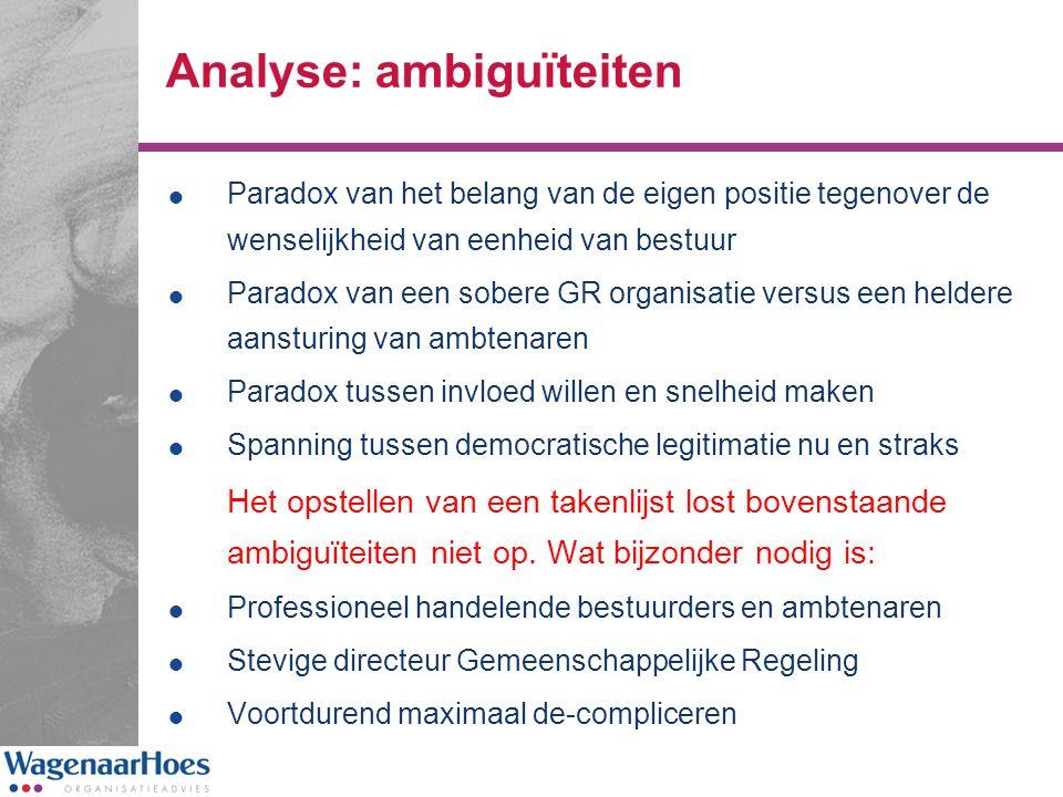 Analyse: ambiguïteiten