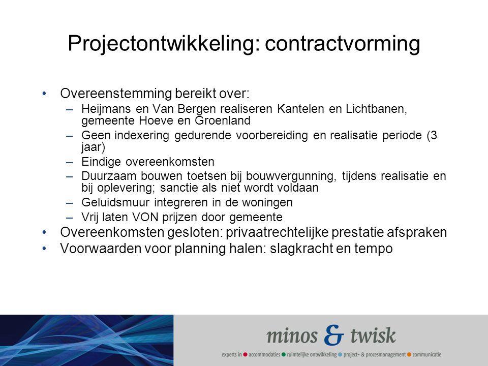 Projectontwikkeling: contractvorming