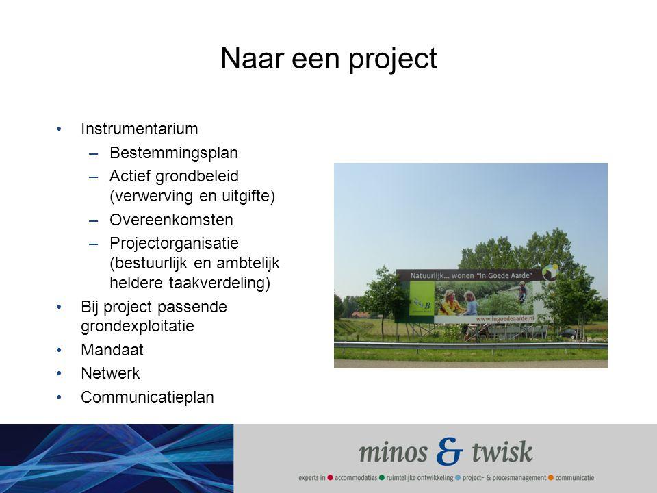 Naar een project Instrumentarium Bestemmingsplan