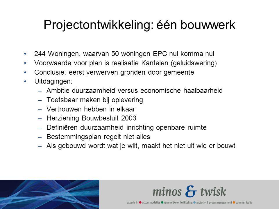 Projectontwikkeling: één bouwwerk