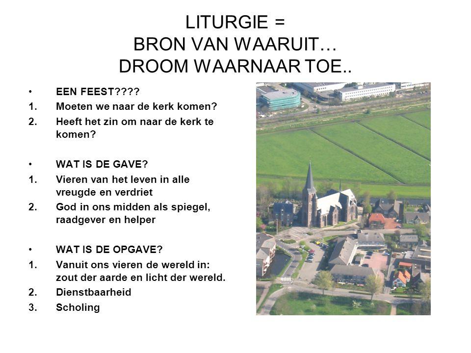 LITURGIE = BRON VAN WAARUIT… DROOM WAARNAAR TOE..