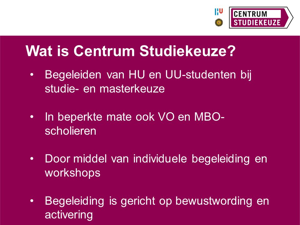 Wat is Centrum Studiekeuze