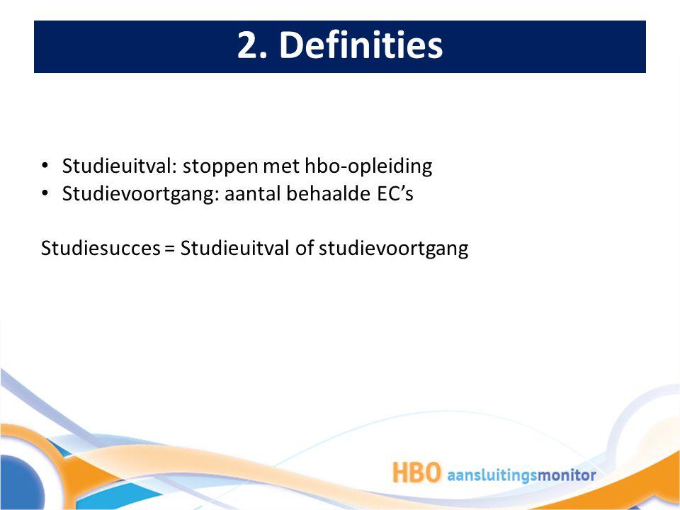 2. Definities Studieuitval: stoppen met hbo-opleiding