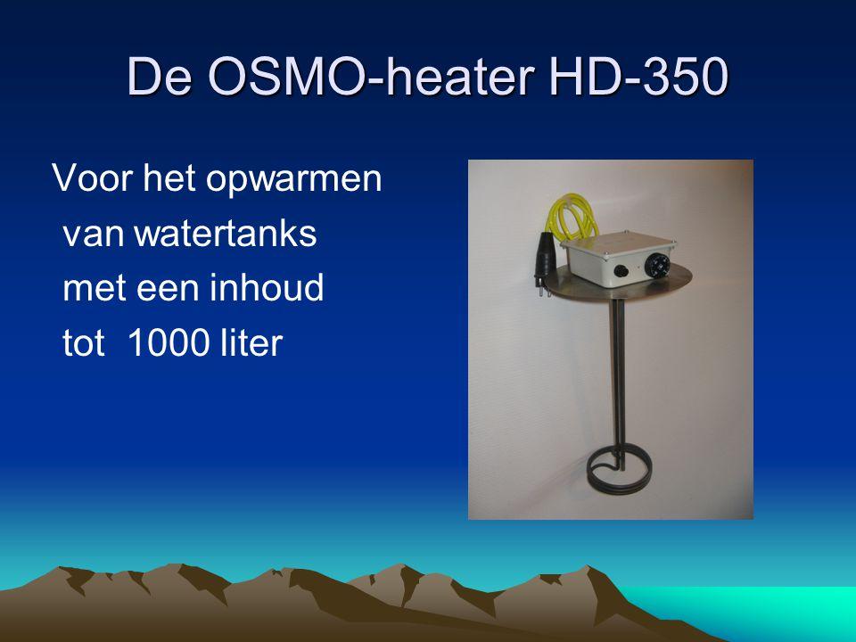 De OSMO-heater HD-350 Voor het opwarmen van watertanks met een inhoud