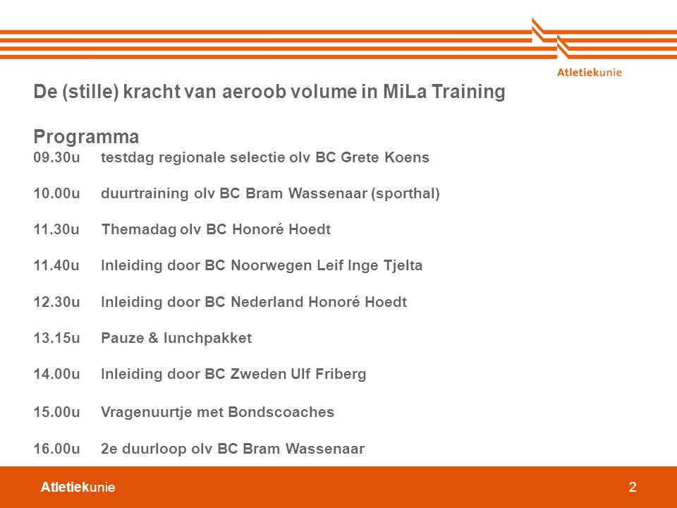 De (stille) kracht van aeroob volume in MiLa Training Programma