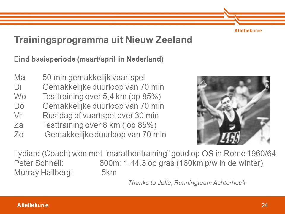 Trainingsprogramma uit Nieuw Zeeland