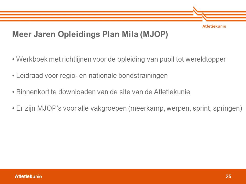 Meer Jaren Opleidings Plan Mila (MJOP)