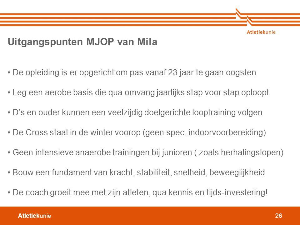 Uitgangspunten MJOP van Mila