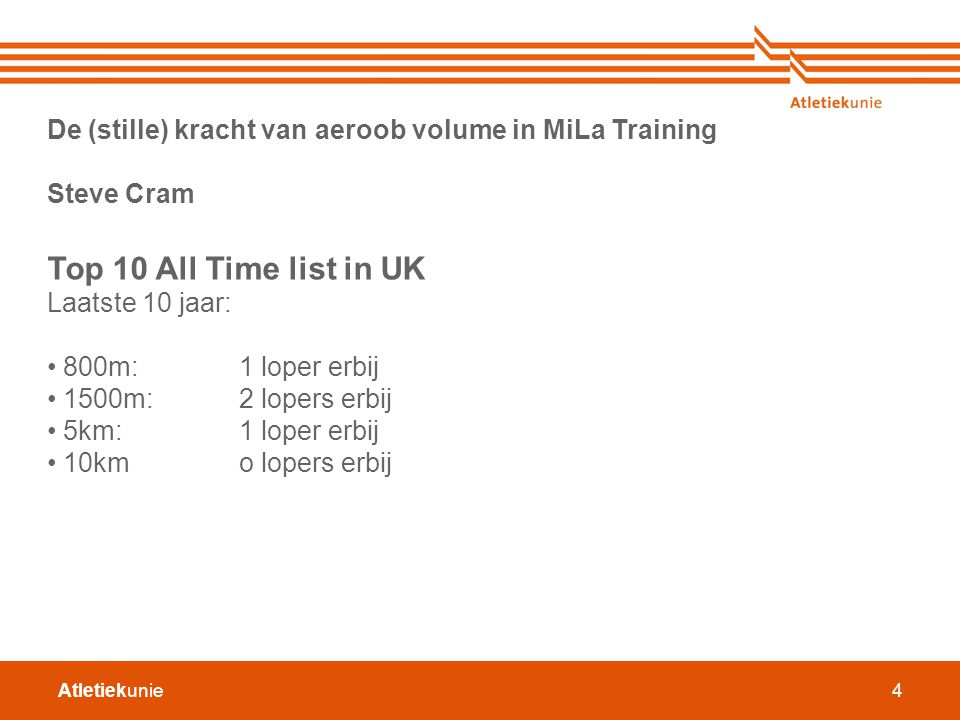 De (stille) kracht van aeroob volume in MiLa Training