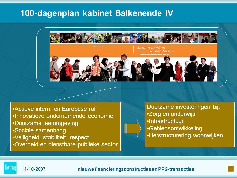 100-dagenplan kabinet Balkenende IV
