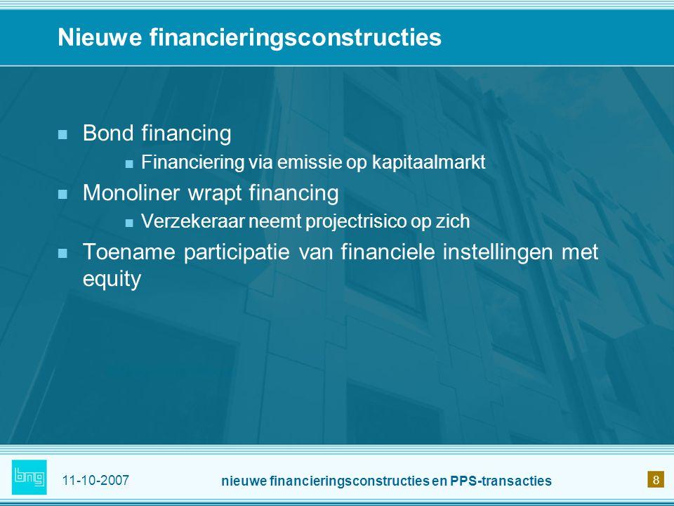 Nieuwe financieringsconstructies