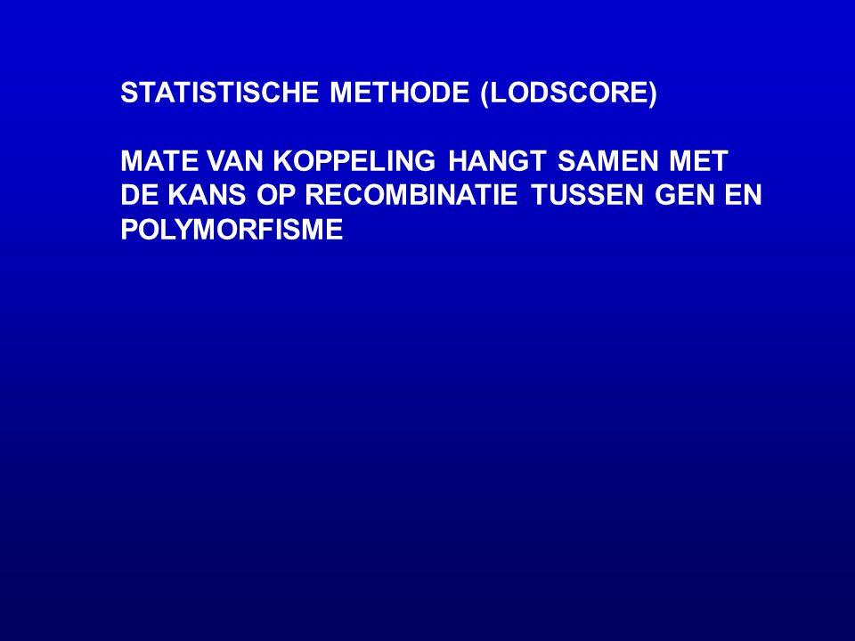 STATISTISCHE METHODE (LODSCORE)
