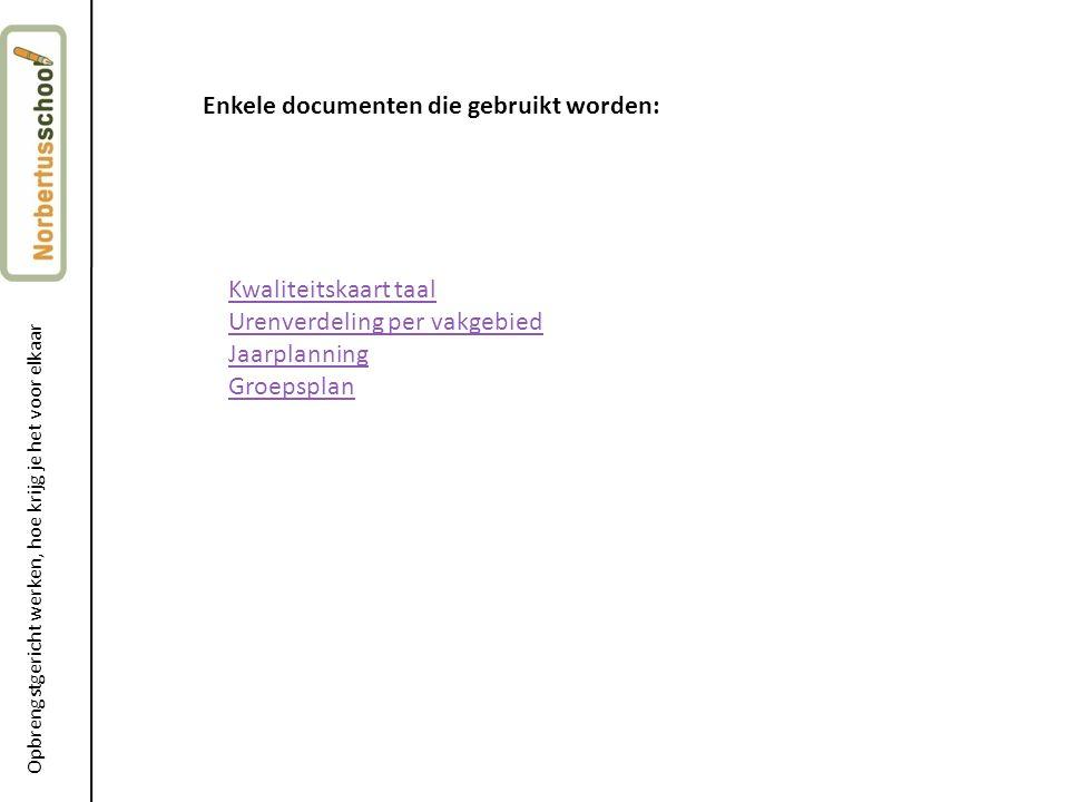 Enkele documenten die gebruikt worden: