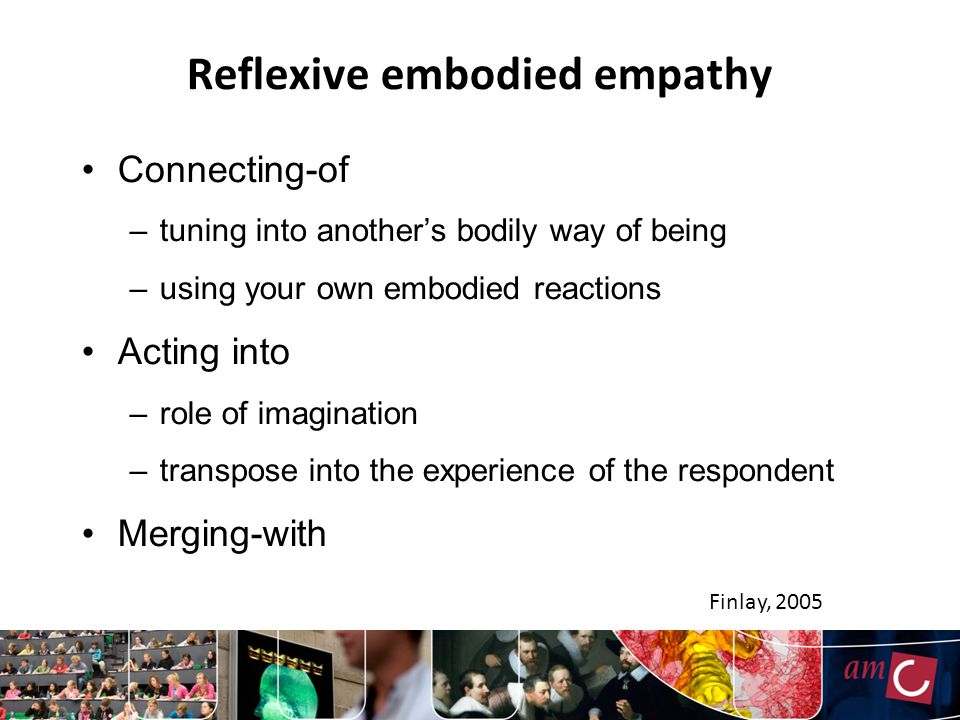 Reflexive embodied empathy