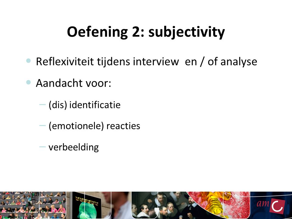 Oefening 2: subjectivity