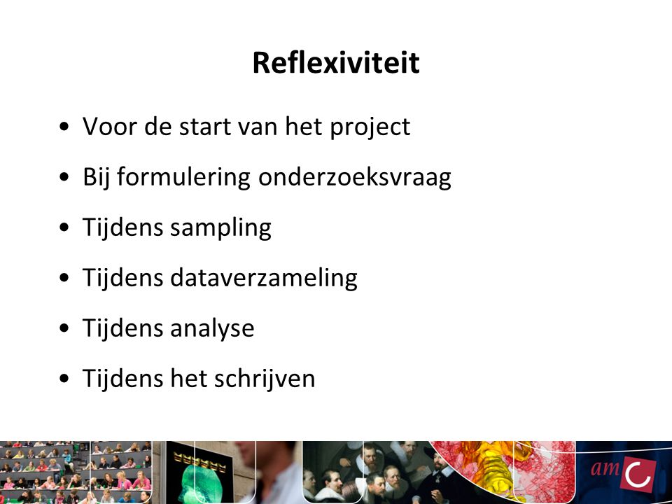 Reflexiviteit Voor de start van het project