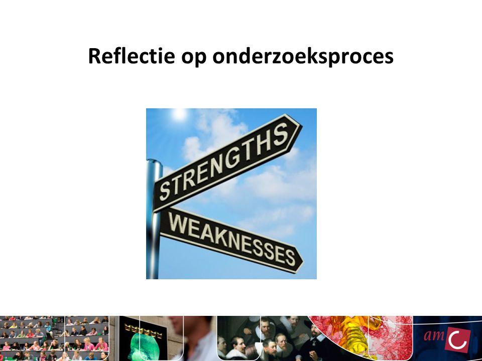 Reflectie op onderzoeksproces