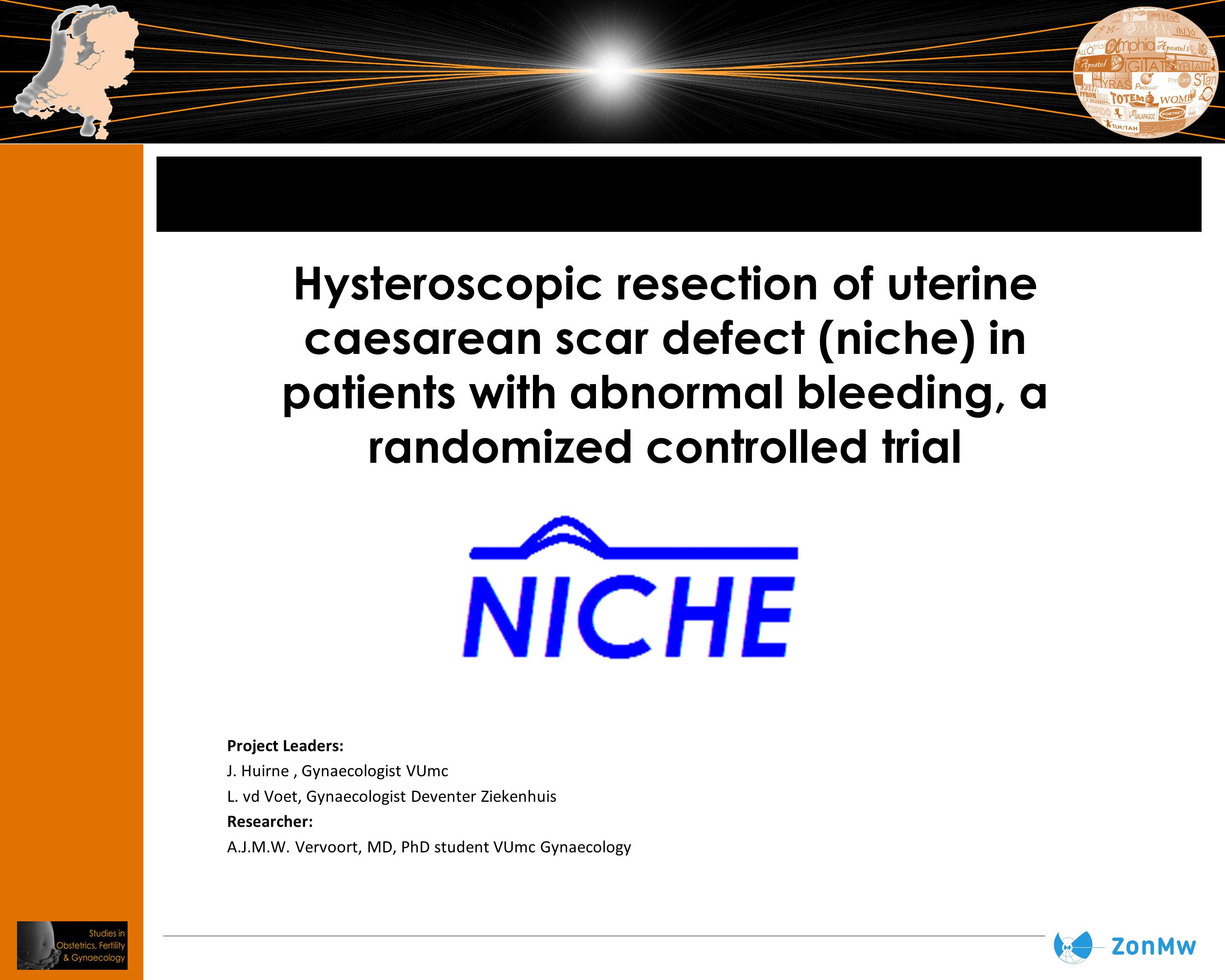 Hysteroscopic resection of uterine caesarean scar defect (niche) in patients with abnormal bleeding, a randomized controlled trial