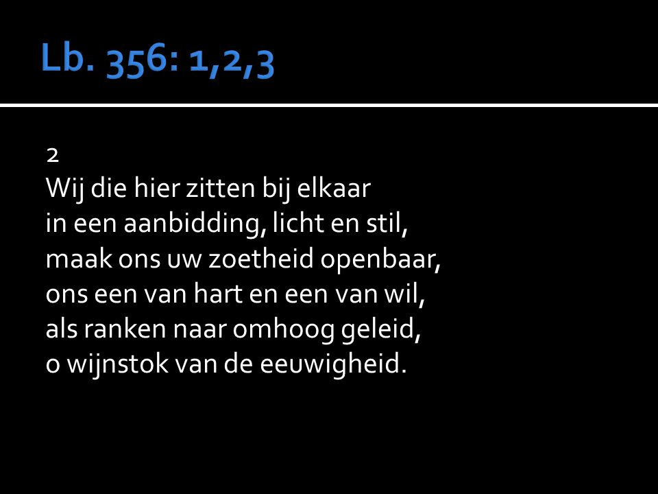 Lb. 356: 1,2,3