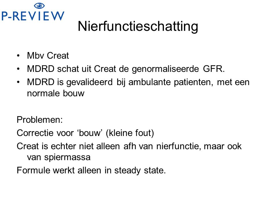 Nierfunctieschatting