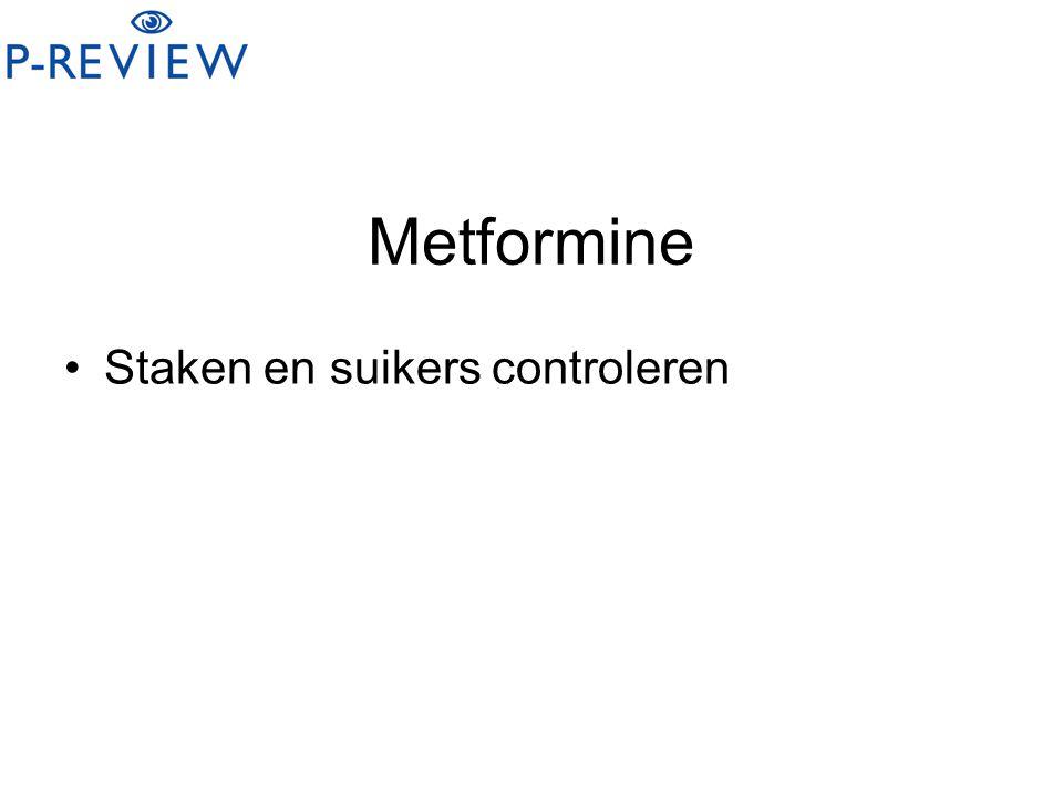 Metformine Staken en suikers controleren