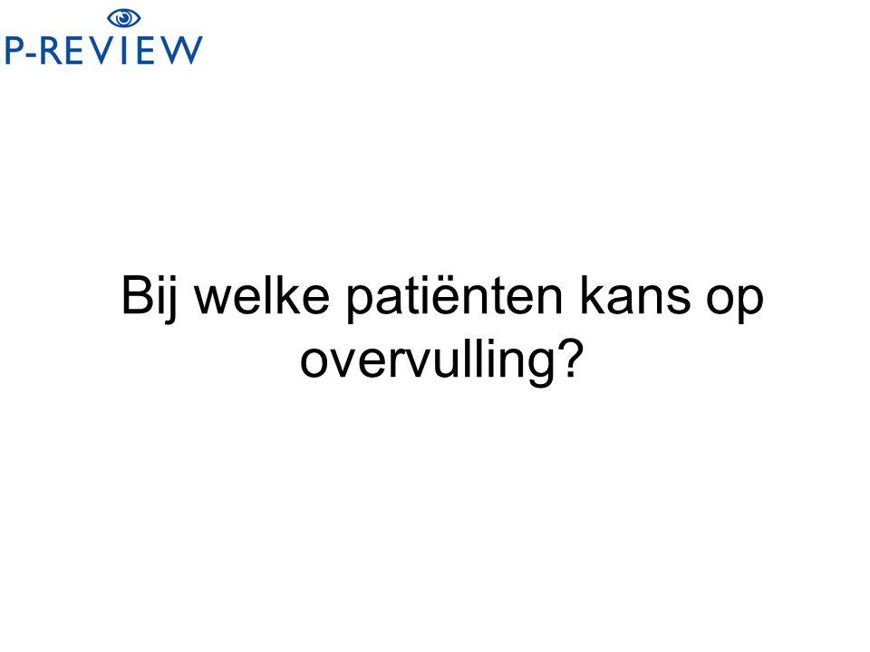 Bij welke patiënten kans op overvulling