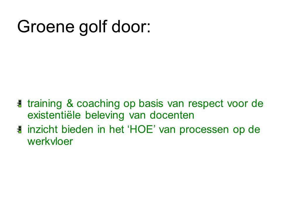 Groene golf door: training & coaching op basis van respect voor de existentiële beleving van docenten.