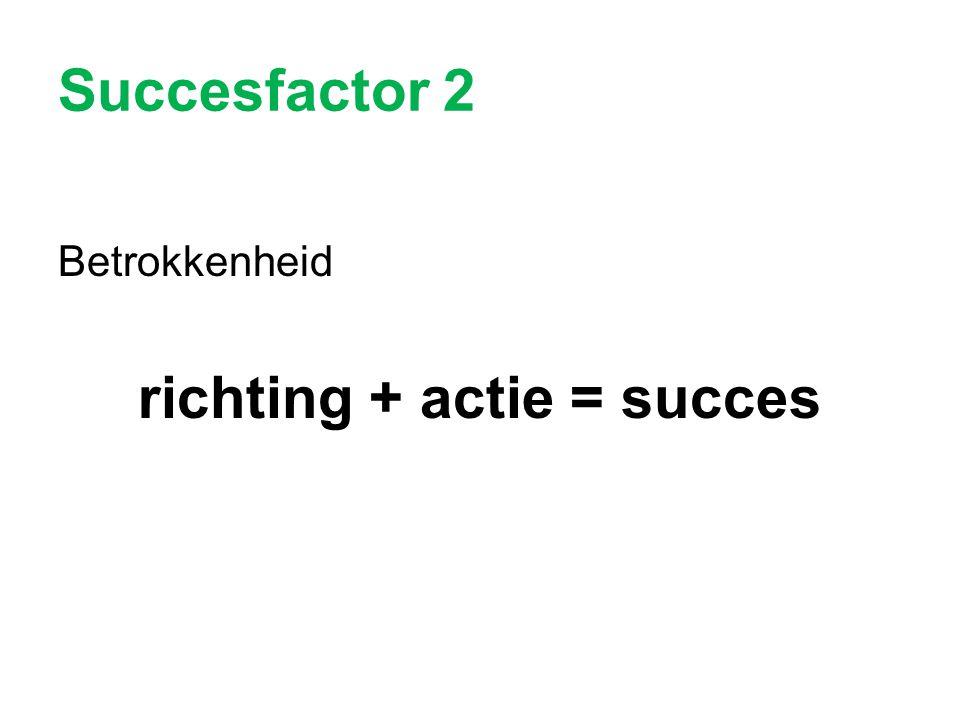 richting + actie = succes