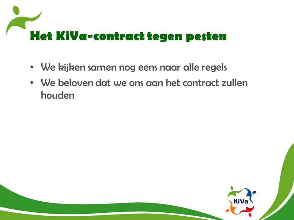 Het KiVa-contract tegen pesten