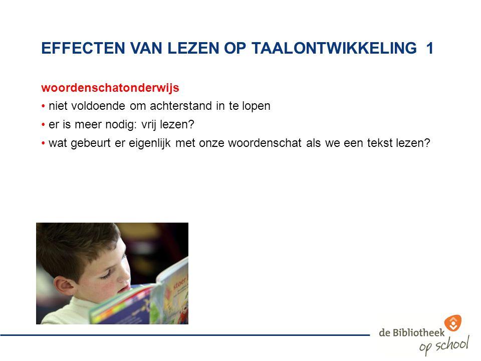 effecten van lezen op taalontwikkeling 1
