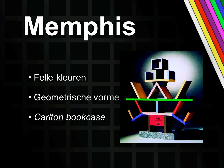 Memphis Felle kleuren Geometrische vormen Carlton bookcase