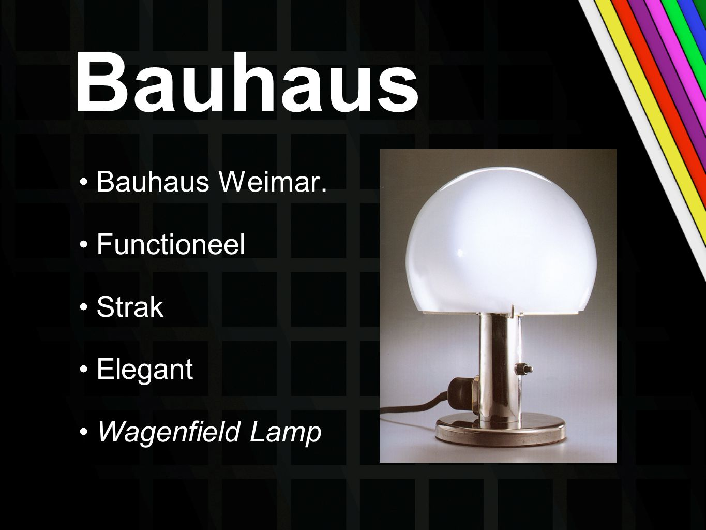 Bauhaus Bauhaus Weimar. Functioneel Strak Elegant Wagenfield Lamp