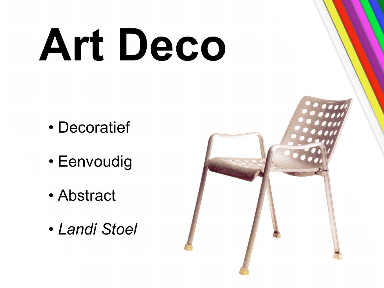 Art Deco Decoratief Eenvoudig Abstract Landi Stoel